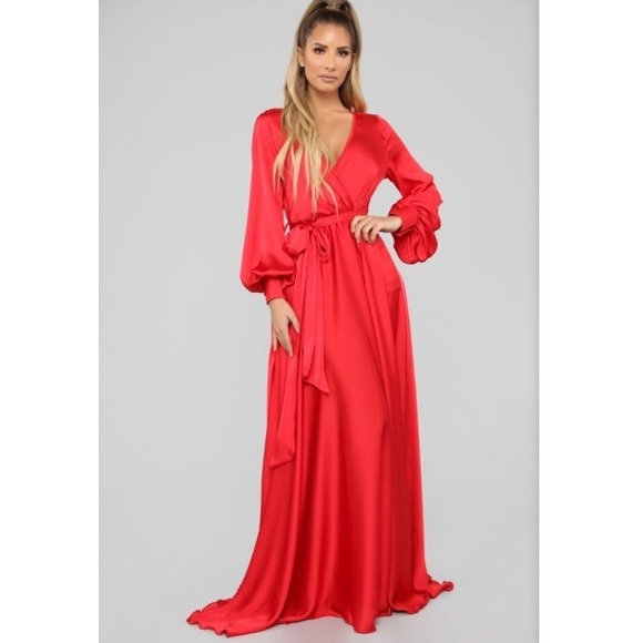 e0322415313 Find Me In My Mansion Satin Maxi Dress